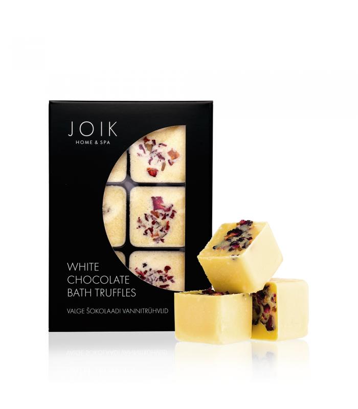 White chocolate bath truffles